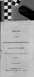 Minutes of North Carolina Yearly Meeting of Friends PDF