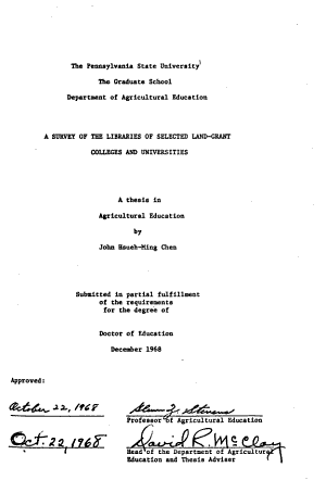 A Survey of the Libraries of Selected Land grant Colleges and Universities PDF