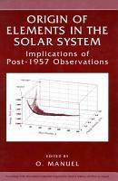Origin of Elements in the Solar System PDF
