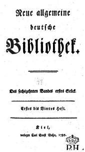 Neue allgemeine deutsche Bibliothek: Band 16