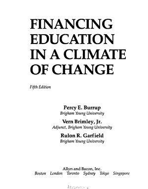 Financing Education in a Climate of Change PDF