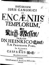 Discursum iuris canonici encaeniis templorum