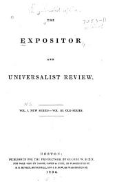 The Expositor and Universalist Review: Volume 1; Volume 3