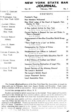 New York State Bar Journal PDF