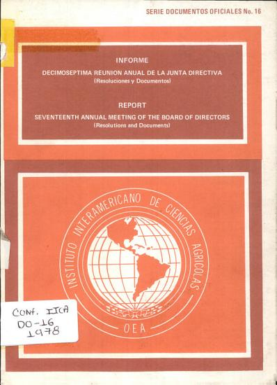 Informe  Decimoseptima Reunion Anual de la Junta Directiva PDF