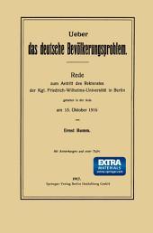 Ueber das deutsche Bevölkerungsproblem: Rede zum Antritt des Rektorates der Kgl. Friedrich-Wilhelms-Universität in Berlin