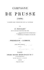 Campagne de Prusse, 1806: Prenzlow - Lubeck