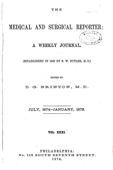 Medical and Surgical Reporter PDF