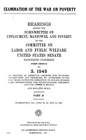 Examination of the War on Poverty PDF