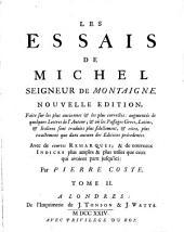 Les essais de Michel seigneur de Montaigne: Volume2