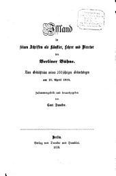 Iffland in seinen Schriften als Künstler, Lehrer und Director der Berliner Bühne