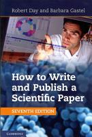 How to Write and Publish a Scientific Paper PDF