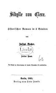 Sibylle von Cleve PDF
