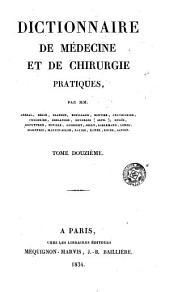 Dictionnaire de médecine et de chirurgie pratiques: Volume10