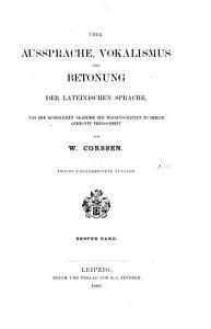 ber Aussprache  Vokalismus und Betonung der lateinischen Sprache PDF