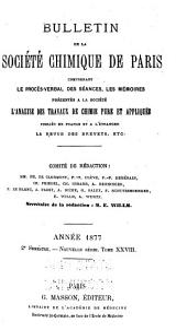 Bulletin de la Société chimique de Paris: Volume28