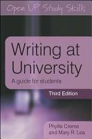 Writing At University  A Guide For Students PDF