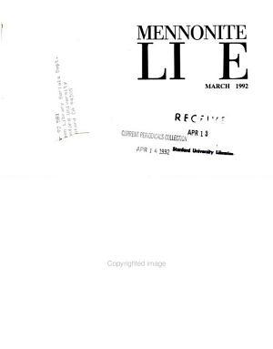 Mennonite Life PDF