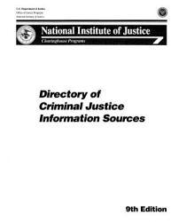 Directory Of Criminal Justice Information Sources Book PDF