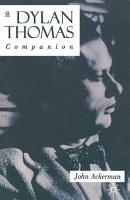 A Dylan Thomas Companion PDF