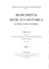 Monumenta medii aevi historica res gestas Poloniae illustrantia. (Typis impressorum coll. hist. Acad. lit. Cracoviensis n. 4 [&c.]).