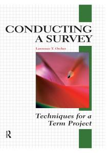 Conducting a Survey Book