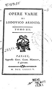 Opere varie di Lodovico Ariosto: Volume 3