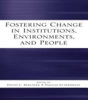 Fostering Change in Institutions  Environments  and People PDF