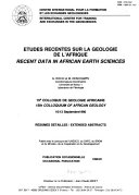 Download Etudes r  centes sur la g  ologie de l Afrique Book