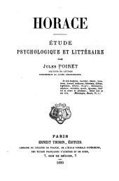 Horace: Étude psychologique et littéraire