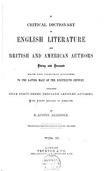 A Critical Dictionary of English Literature and British and American Authors PDF