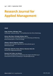 Research Journal for Applied Management   Jg  1  Heft 1 PDF
