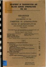 Department of Transportation and Related Agencies Appropriations for 1992: Department of Transportation