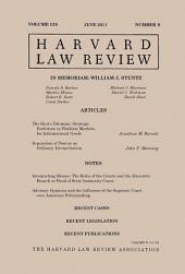 Harvard Law Review: Volume 124, Number 8 - June 2011