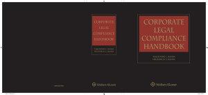 Corporate Legal Compliance Handbook  3rd Edition PDF