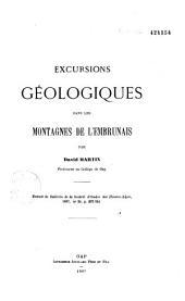 Excursions géologiques dans les montagnes de l'Embrunais