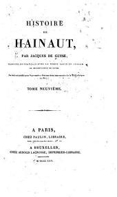 Histoire de Hainaut: Volume9