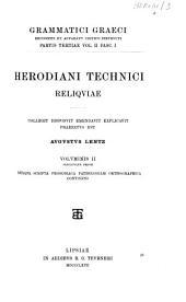 Herodiani Technici reliquiae