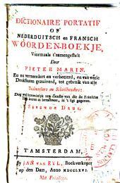 Dictionaire portatif of Nederduitsch en Fransch woordenboekje: voormaals t'zamengestelt