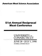 Annual Reciprocal Meat Conference, Proceedings