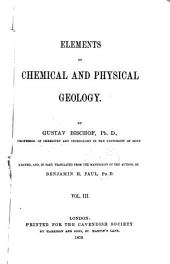 Elements of Chemical and Physical Geology: Volume 3