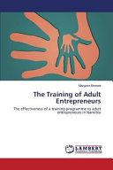 The Training of Adult Entrepreneurs