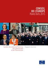 Conseil de l'Europe – Points forts 2015
