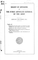 Digest of Opinions of the Judge Advocate General of the Army PDF