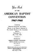 Year Book of the American Baptist Convention