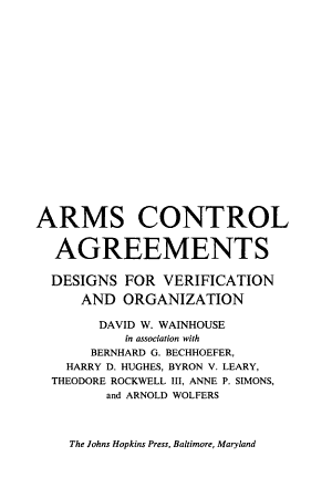 Arms Control Agreements PDF