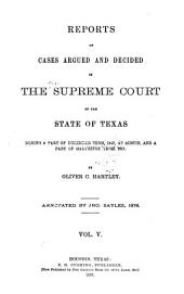 The Texas Reports: Cases Adjudged in the Supreme Court, Volume 5