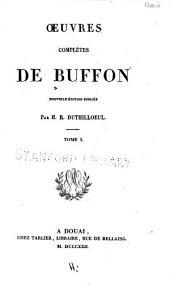 Oeuvres complètes de Buffon: Matières générales
