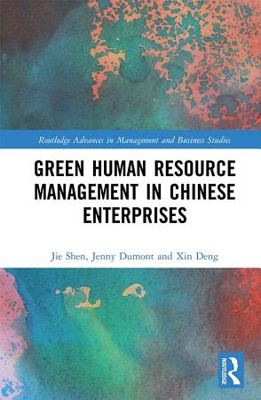 Green Human Resource Management in Chinese Enterprises PDF