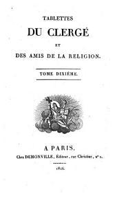 Tablettes du clergé et des amis de la religion